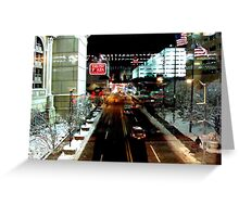 Nightscape of Atlantic City - USA ^ Greeting Card