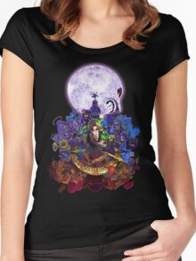 Majoras Mask 3D Women's Fitted Scoop T-Shirt