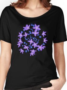 Purple Flowers Explosion Women's Relaxed Fit T-Shirt