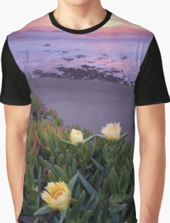 Blooming Ice Plants. Graphic T-Shirt