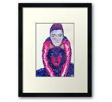 Stiles and the Wolf Framed Print