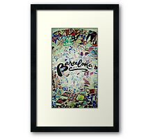Barcelona Gaudi Work Modernism Park Güell Photography and Calligraphy Framed Print