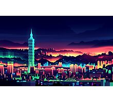 Neon City Photographic Print