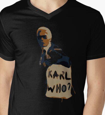 Karl Legerfeld- illustrations  Mens V-Neck T-Shirt