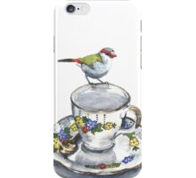 High Tea Red Browed Finch iPhone Case/Skin