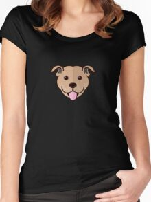 Staffy Smile – Fawn Women's Fitted Scoop T-Shirt