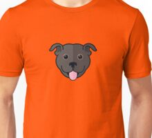 Staffy Smile – Black Unisex T-Shirt