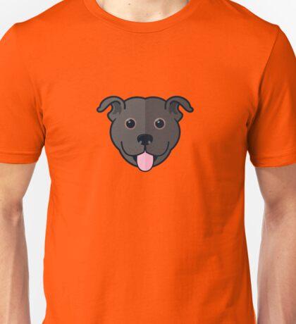 Staffy Smile – Black Unisex T-Shirt