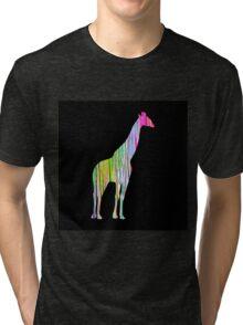 Giraffe Silhouette Tri-blend T-Shirt
