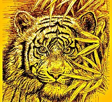 King of the Jungle in orange-yellow by GittaG74