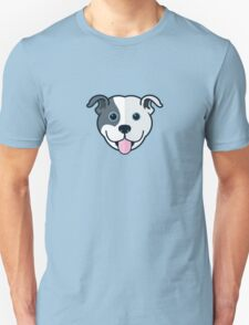 Staffy Smile – Patch 01 Unisex T-Shirt