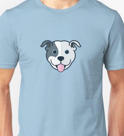 Staffy Smile –Patch 01 Unisex T-Shirt