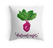 Beetroot Music Throw Pillow