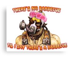 Who Wants A Barbecue? Canvas Print