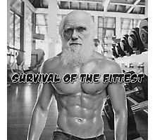 Charles Darwin - Survival of the Fittest Photographic Print