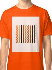 Metallic Waves Abstract Classic T-Shirt