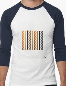 Metallic Waves Abstract Men's Baseball ¾ T-Shirt