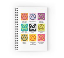 Twelve Step Slogans Spiral Notebook