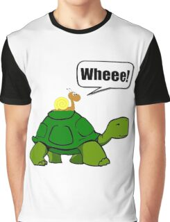 Snail Turtle Ride Graphic T-Shirt