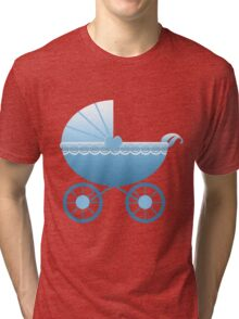 Blue Baby Carriage Tri-blend T-Shirt