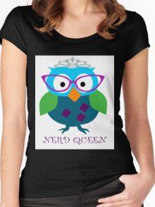 Nerd Queen and proud of it Women's Fitted Scoop T-Shirt