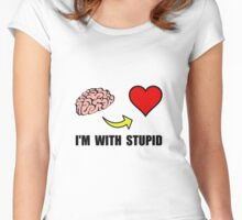 Stupid Heart Women's Fitted Scoop T-Shirt