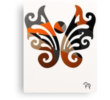 Butterfly Metallic Abstract Canvas Print