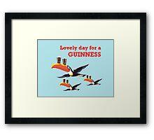 GUINESS LOVELY DAY FOR A GUINNESS Framed Print