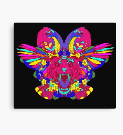 Psychedelic animal mashup Canvas Print