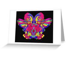 Psychedelic animal mashup Greeting Card