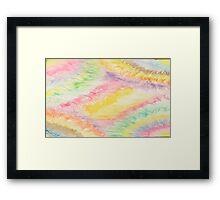 diamond pastel Framed Print