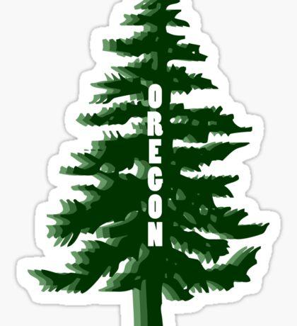 Oregon Tree Sticker