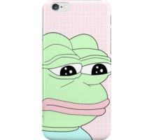 aesthetic pepe iPhone Case/Skin