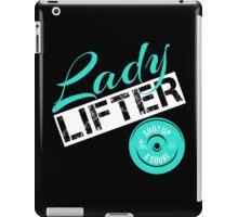 Teal, White & Black Lady Lifter iPad Case/Skin