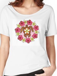 Plumeria Turtle Women's Relaxed Fit T-Shirt