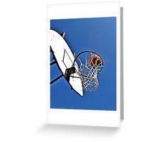 Shooting Hoops Greeting Card