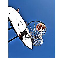 Shooting Hoops Photographic Print
