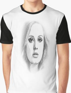 ADELE SKETCH Graphic T-Shirt