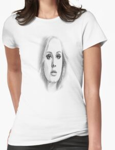 ADELE SKETCH Womens Fitted T-Shirt