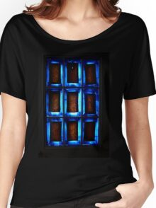 Blue Abstract Women's Relaxed Fit T-Shirt