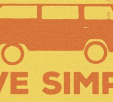 Beach Van - Live Simply Sticker
