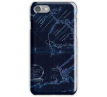 American Revolutionary War Era Maps 1750-1786 609 Map of the River St John in the Province of Nova Scotia exhibiting the grant to officers &c in 1765 with Inverted iPhone Case/Skin