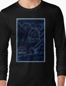 American Revolutionary War Era Maps 1750-1786 609 Map of the River St John in the Province of Nova Scotia exhibiting the grant to officers &c in 1765 with Inverted Long Sleeve T-Shirt