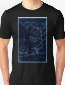 American Revolutionary War Era Maps 1750-1786 609 Map of the River St John in the Province of Nova Scotia exhibiting the grant to officers &c in 1765 with Inverted Unisex T-Shirt