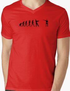 The Walking Dead Inspired Evolution of Zombie Mens V-Neck T-Shirt