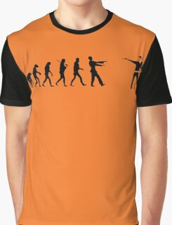 The Walking Dead Inspired Evolution of Zombie Graphic T-Shirt