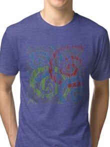 Multicolour Pattern Tri-blend T-Shirt