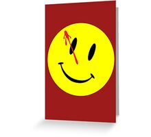 The Watchmen Movie Comedian Greeting Card