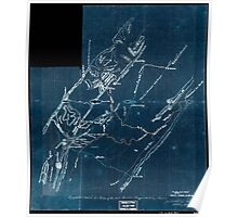 269 Topographical sketch of a portion of the North Mountain Range the Valley of Virginia Inverted Poster