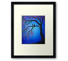 Two Cats in a Spring Tree  Framed Print